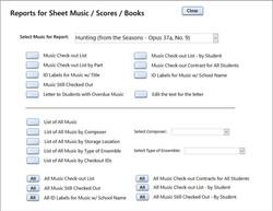 Sheet Music Reports