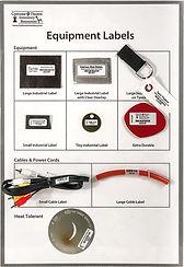 Equipment Sample Labels