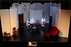 Stage with 1/12th scale furniture