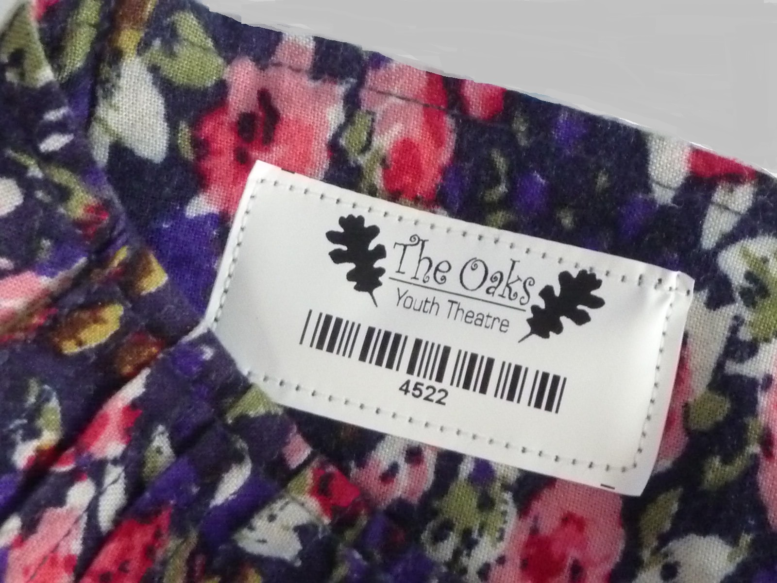 Sew-in tag in skirt
