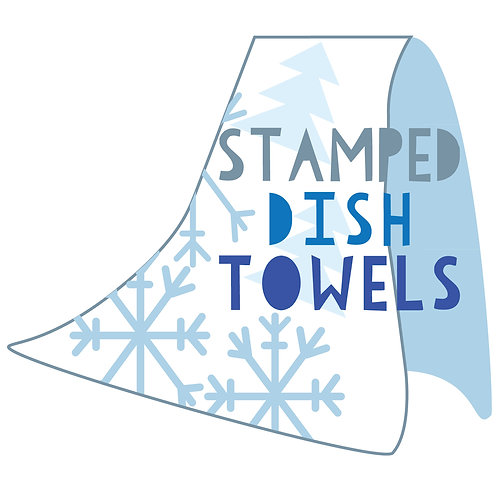 Stamped Dish Towels