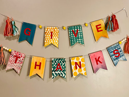Give Thanks Banner Kit