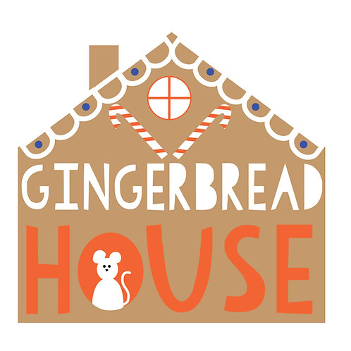 """""""Gingerbread"""" Chalkboard House"""