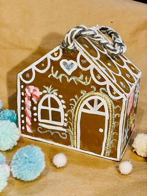 """Gingerbread"" Chalkboard House"