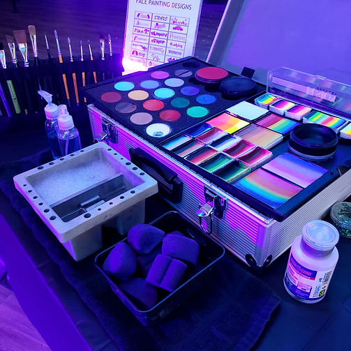 Face Painting Set Up (Black Light and St