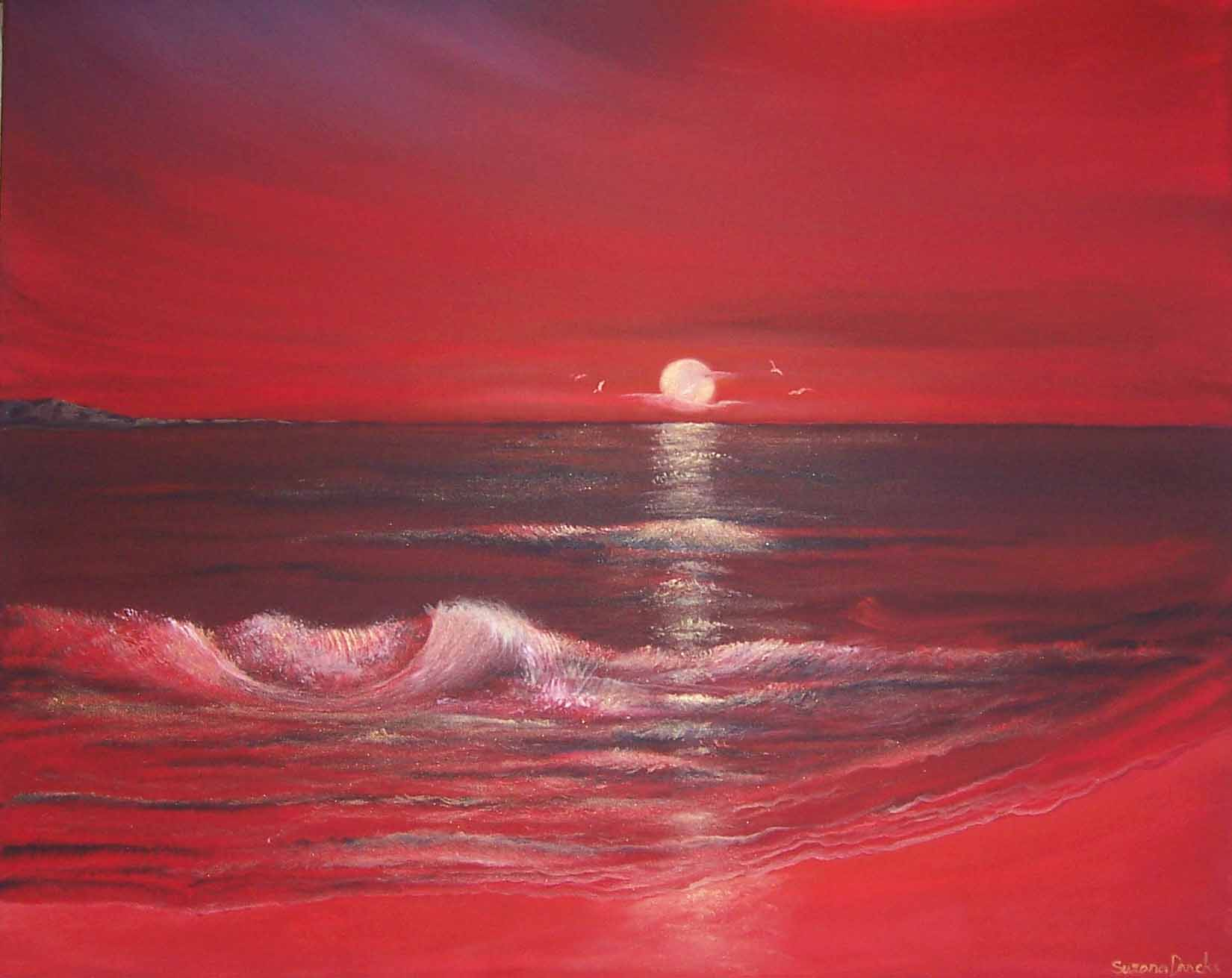 SCARLET OCEAN SUNSET