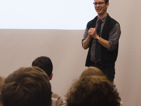 Author talks research, book series at 1st physical visit to Ball State