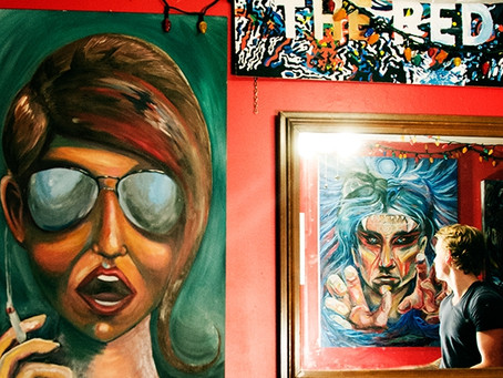 Paintings on the walls
