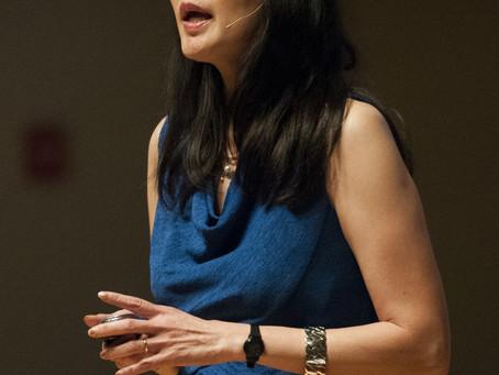 EIL speaker Sheryl WuDunn addresses students on poverty, volunteering