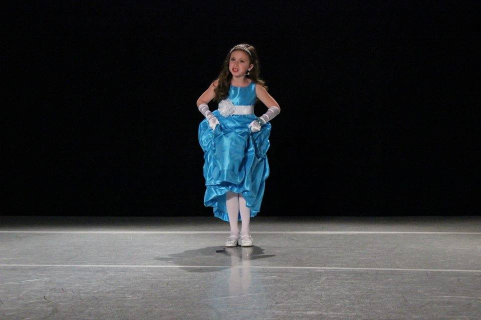 Mia at competition