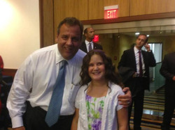 Hadley sang for Gov. Christie