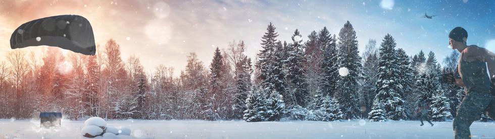 Snow Run - PUBG - 7680 X 2160