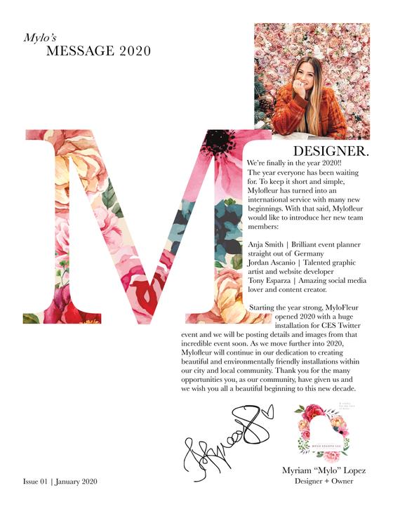 Issue 1 | Jan 2020 | xoxo Mylo