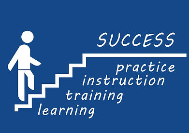 Learning,training,instruction and practice