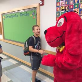 Clifford Making Friends at the Book Fair