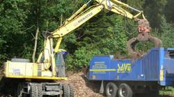 Drcení dřevního materiálu