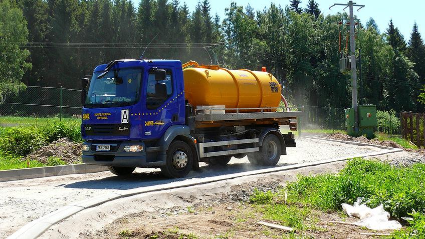 Cisterna DAF pro vývoz septiků