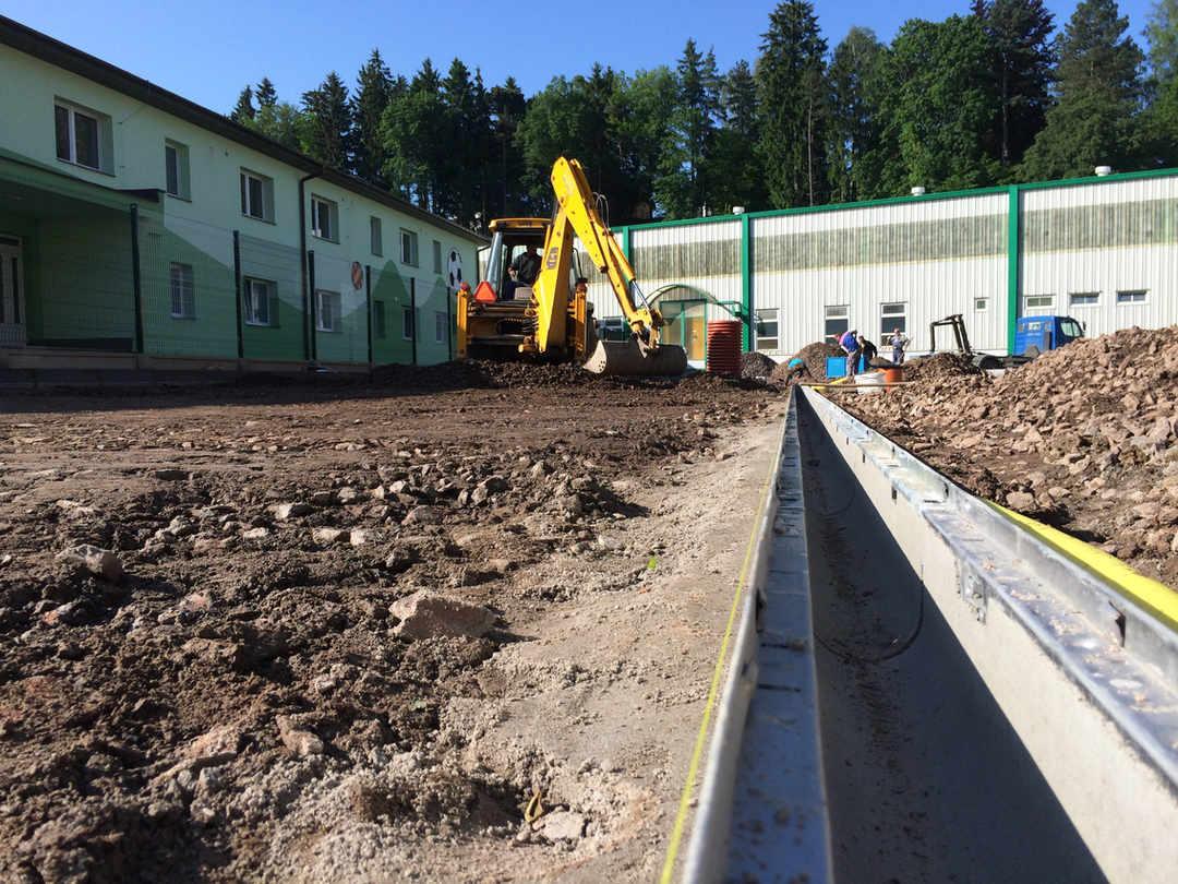 Zemní prace - výstavba parkoviště