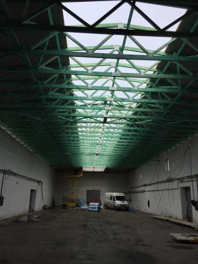 Konstrukce nové střechy