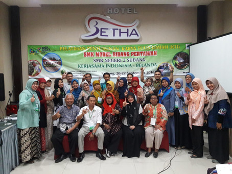 Pelatihan Penyusunan Karya Tulis Ilmiah, Kerjasama Indonesia Belanda