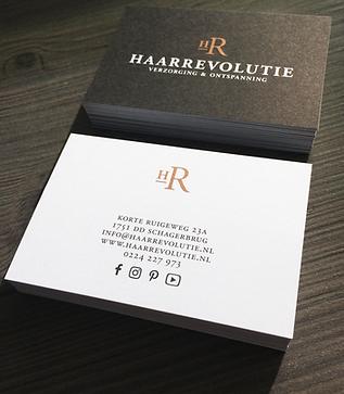 visitekaartje ontwerp Haarrevolutie
