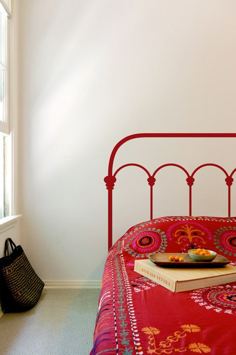 Cast iron bed frame headboard decal