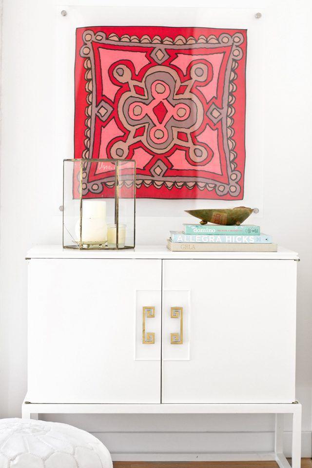 Framed scarf wall art