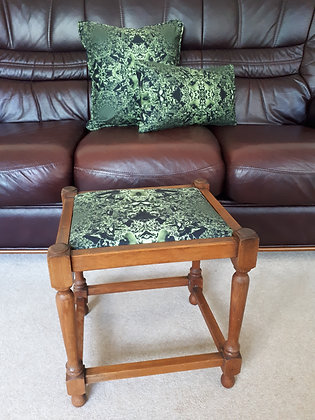 SALE! Vintage Stool in Kya Fabric