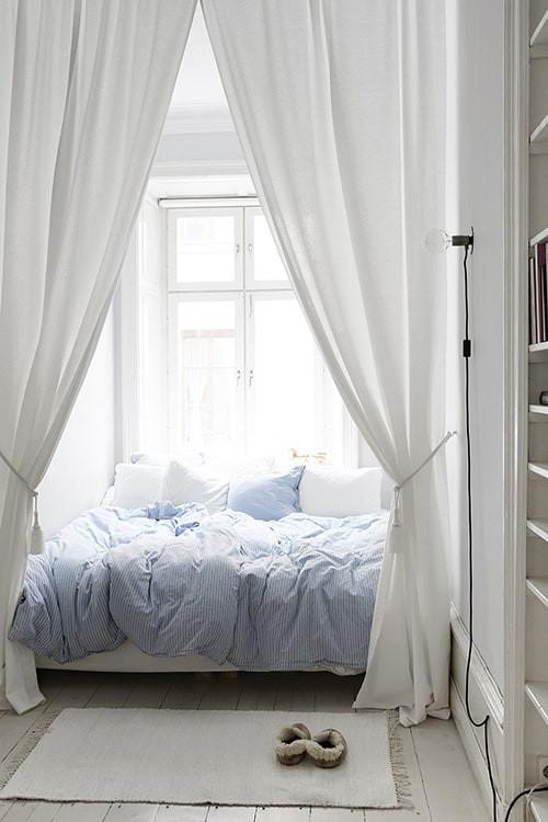 Full length curtains room divider