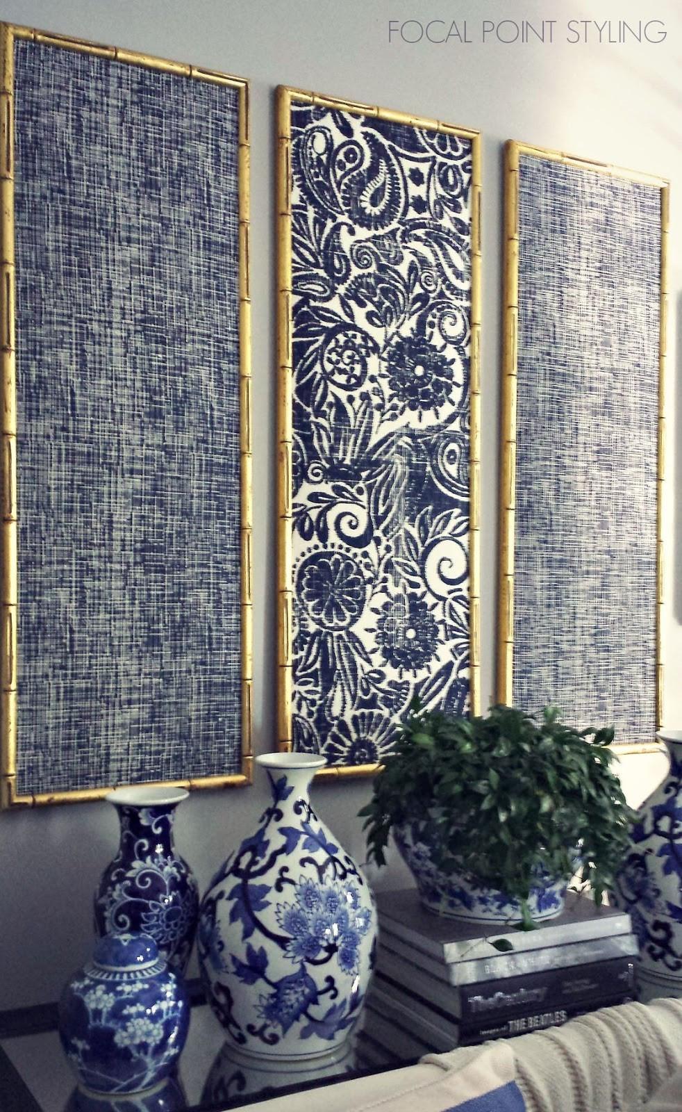 Fabric panel wall art
