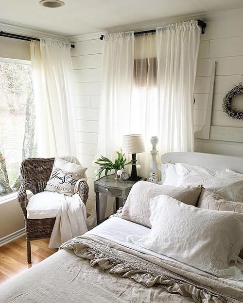 Sheer layered curtains