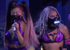 "Lady Gaga ""feat"" Ariana Grande: la performance au MTV Music Awards"