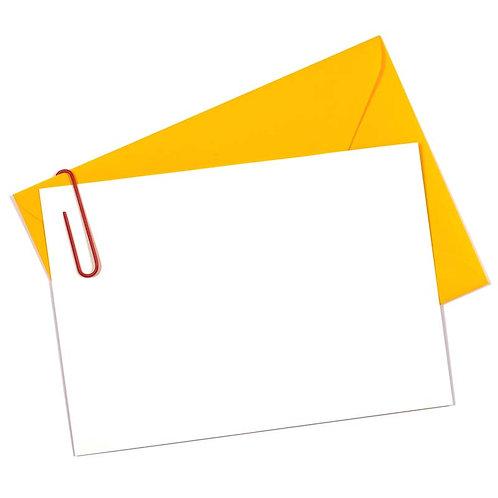 名刺サイズ カード(封筒付き)