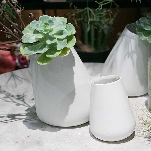 SHISHI 陶器フラワーベースL