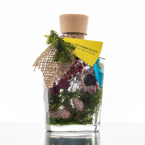 GINKGOスタイルクリスマスハーバリウムウイスキーポケットボトル