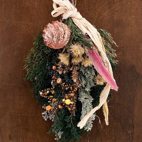 GINKGOスタイルクリスマスドアスワッグ(生花)