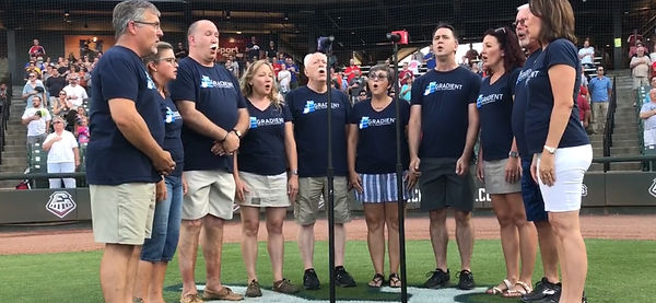 Gradient sings the National Anthem