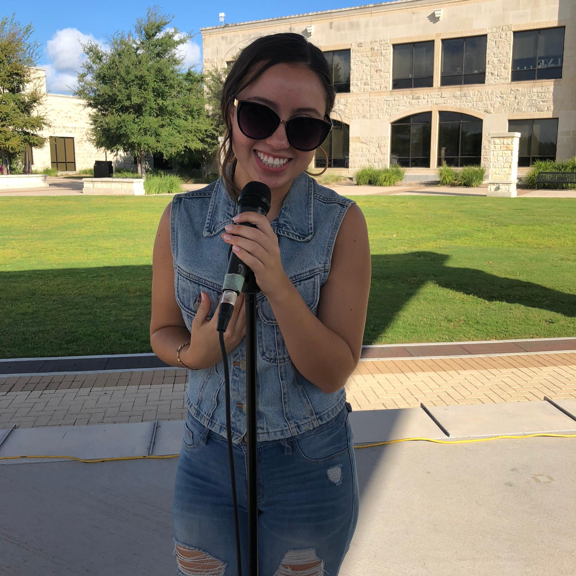 PCG Artist, Ava sings at Market Days