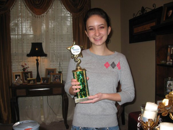 Student wins first place on her vocal solo at Brishy Creek Talent Competition