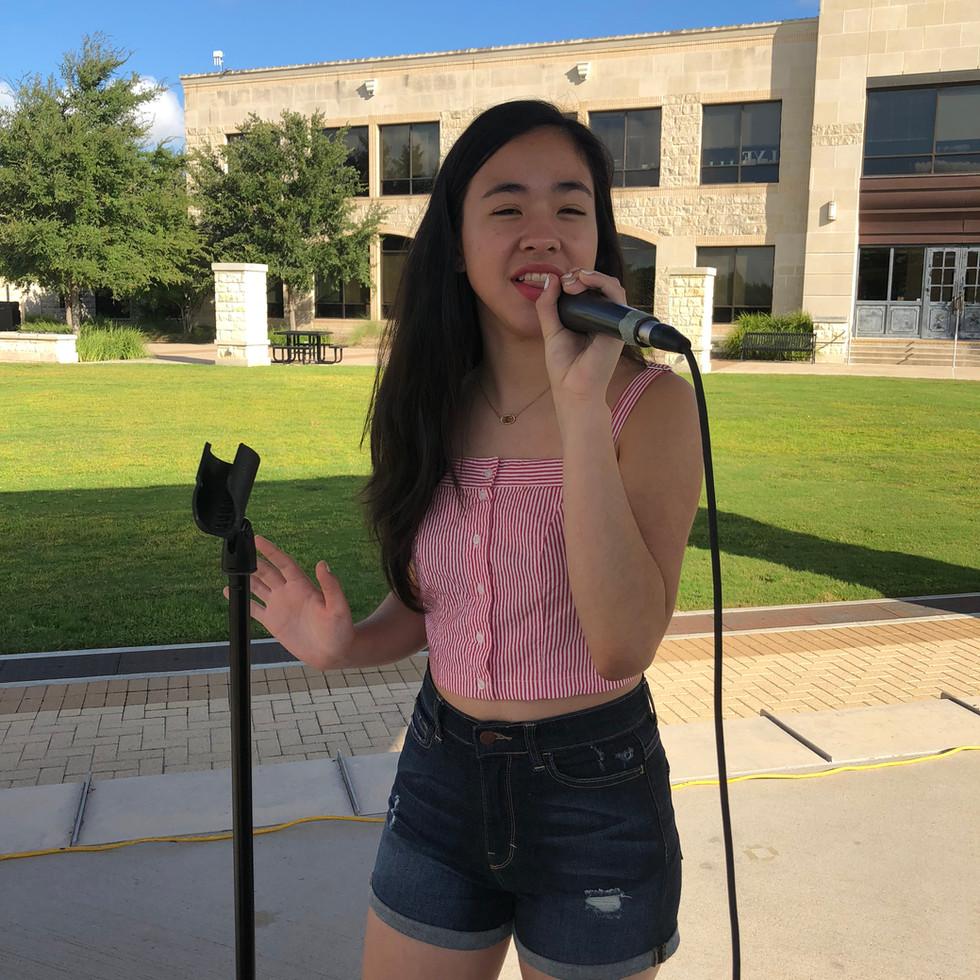 Alyssa performs at Market Days
