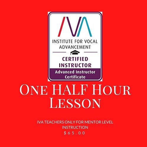 IVA Teachers Only - 1/2 hour