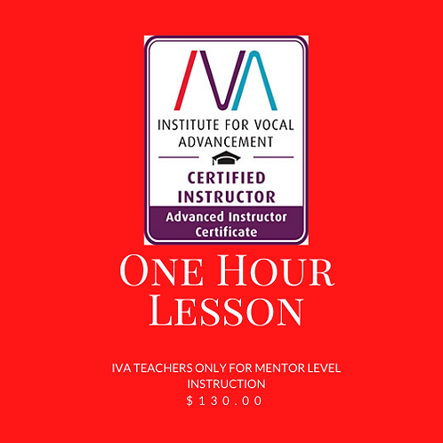 IVA Teachers Only - 1 hour