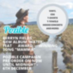 New record 'Water' - Pozible Campaign .j