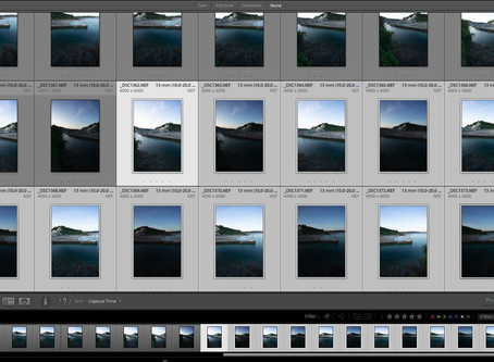 How to create huge panoramas in Lightroom Pt 1: 12 shot image from Cornwall