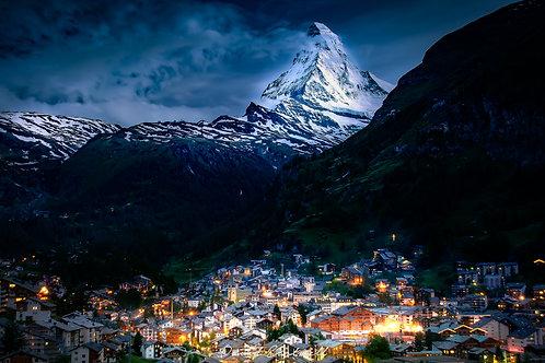 Sunset over the Matterhorn - Zermatt - Switzerland