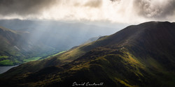 Wales, Stormy Sky over Cadair Idris