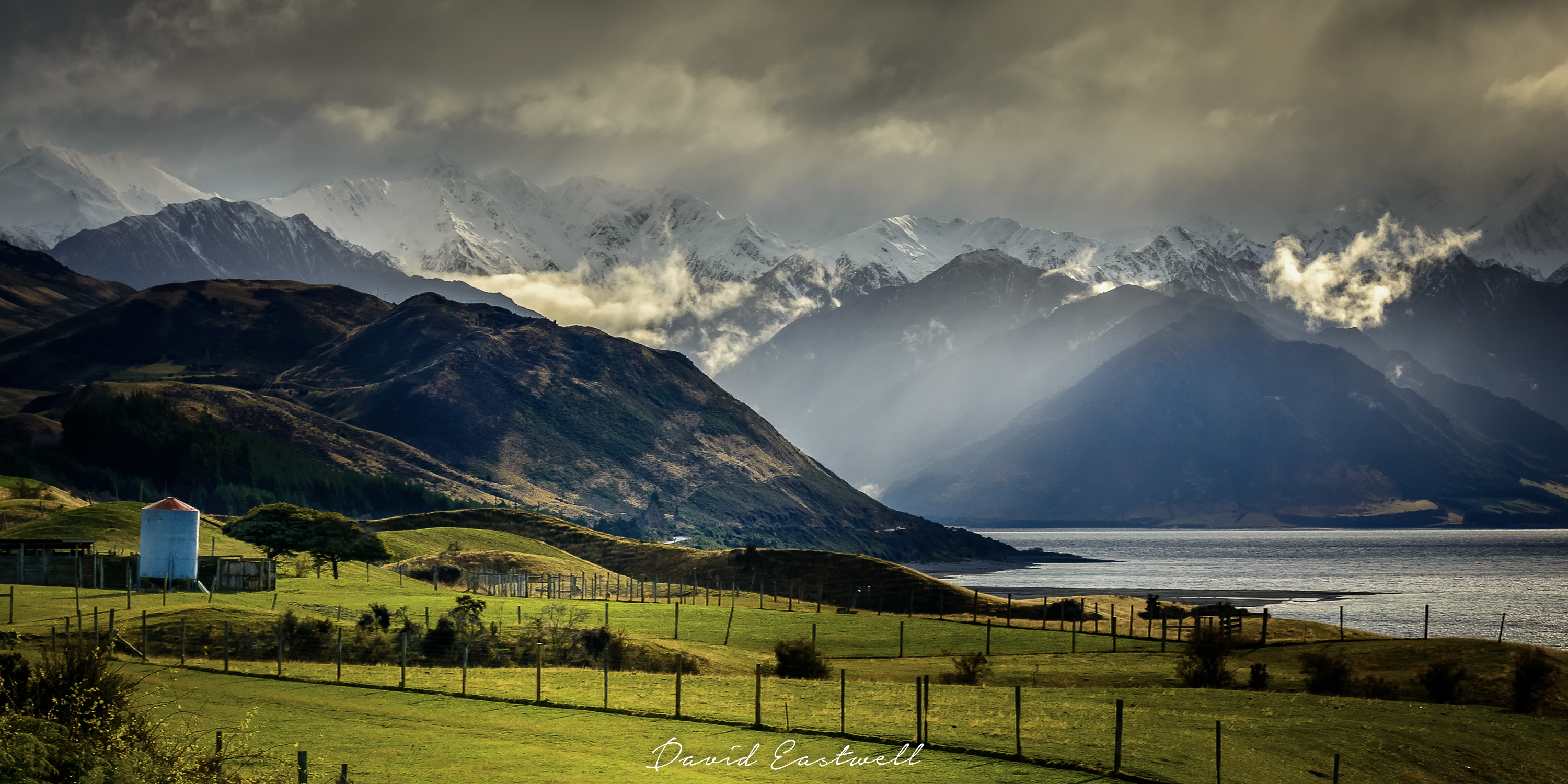 Light and Shadow over Lake Hawea