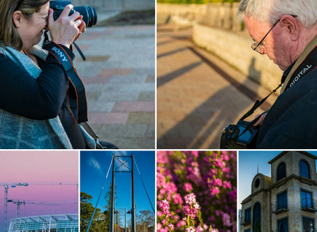 Beautiful afternoon photography class around East Perth