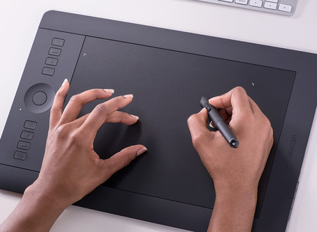 Editing with a Wacom Tablet. My latest gadget!