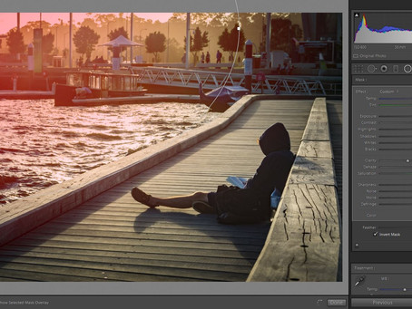 Little photo editing tip for covering up overexposed skies.
